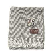 Jacob Wool Gray Chevron Blanket