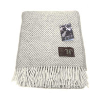 Jacob Wool Silver Chevron Blanket