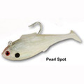 "Tsunami Shad Heavy Pearl White 6.5"" 4.5oz 2 Pack"