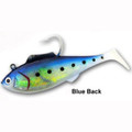 "Tsunami Shad Heavy Blue Back 6.5"" 4.5oz 2 Pack"
