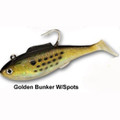 "Tsunami Shad Heavy Bunker Gold 6.5"" 4.5oz 2 Pack"