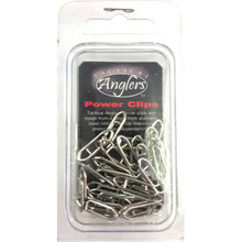 Tactical Angler Clips 75 lb Test 25pk (Silver)
