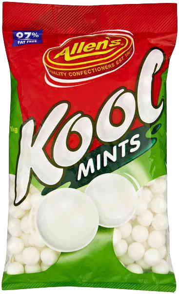 Allens Kool Mints, by Allens Confectionery,  and more lollies at The Professors Online Lolly Shop. (Image Number :6224)