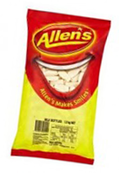Allens Milk Bottles, by Allens Confectionery,  and more Confectionery at The Professors Online Lolly Shop. (Image Number :6226)