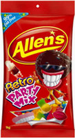 Allens Retro Party Mix, by Allens Confectionery,  and more Confectionery at The Professors Online Lolly Shop. (Image Number :6362)