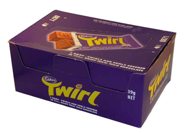 Cadbury Twirl, by Cadbury,  and more Confectionery at The Professors Online Lolly Shop. (Image Number :1950)