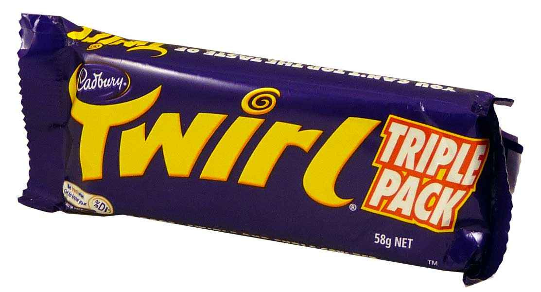 Cadbury Twirl King Size, by Cadbury,  and more Confectionery at The Professors Online Lolly Shop. (Image Number :1951)