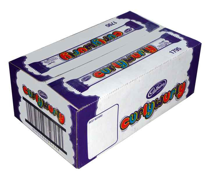 Curly Wurly Bars, by Cadbury,  and more Confectionery at The Professors Online Lolly Shop. (Image Number :1967)