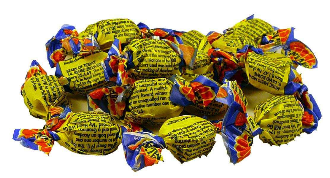 Fantales 1kg bulk bag, by Allens Confectionery,  and more Confectionery at The Professors Online Lolly Shop. (Image Number :1987)