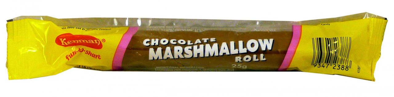 Kenmans Chocolate Marshmallow Roll, by Kenman,  and more Confectionery at The Professors Online Lolly Shop. (Image Number :2038)