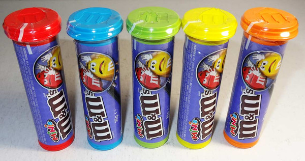 M&M Minis Tubes, by Mars,  and more Confectionery at The Professors Online Lolly Shop. (Image Number :6874)