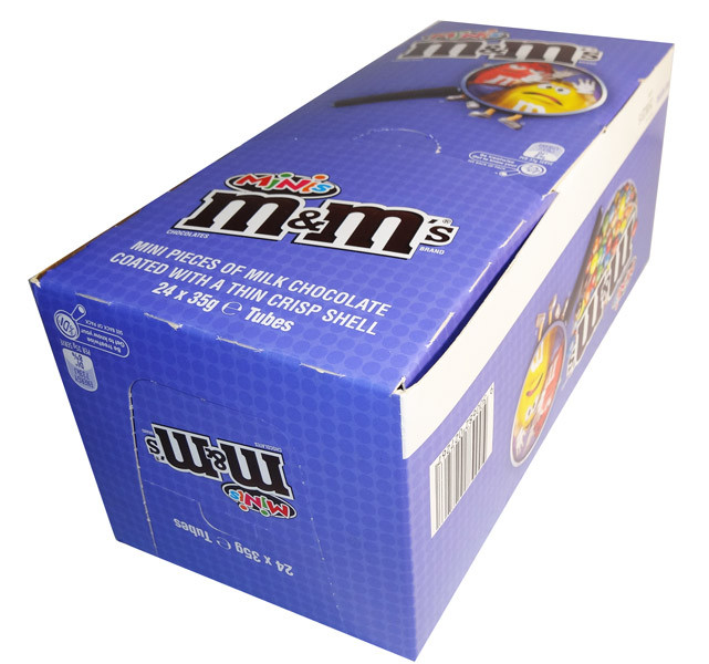 M&M Minis Tubes, by Mars,  and more Confectionery at The Professors Online Lolly Shop. (Image Number :6875)