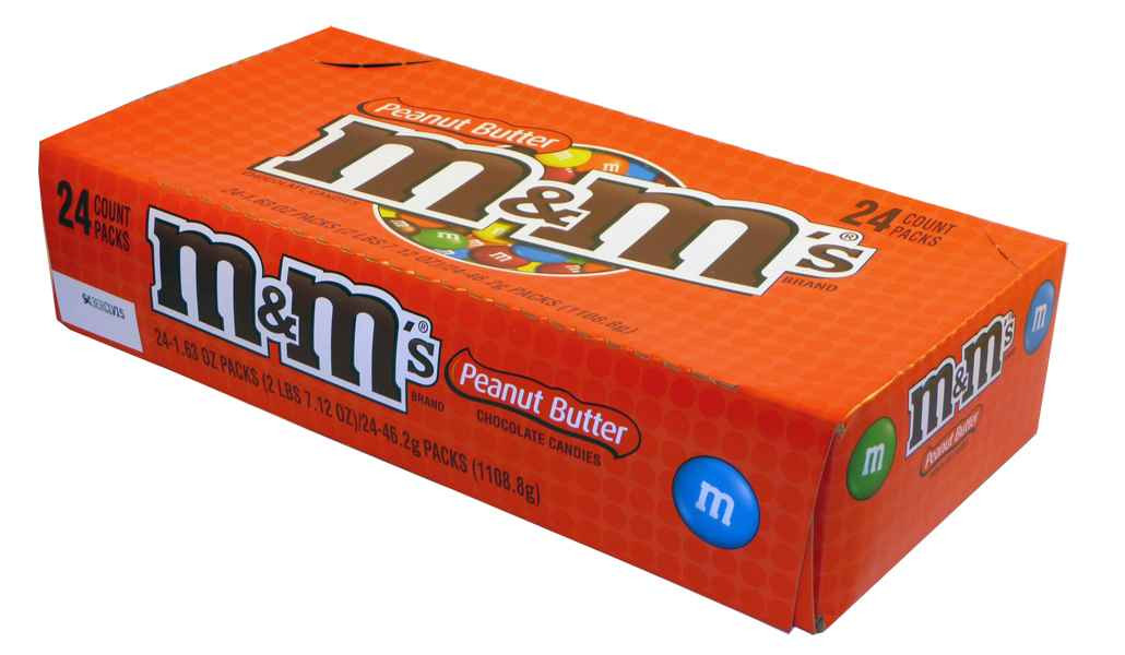 M&M Peanut Butter Chocolate Candies, by Mars,  and more Confectionery at The Professors Online Lolly Shop. (Image Number :2054)