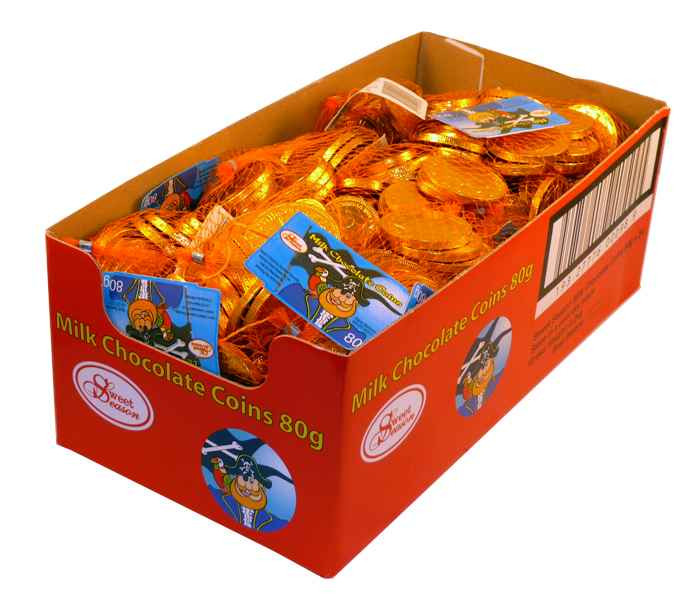 Milk Chocolate Coins, by Sweet Season,  and more Confectionery at The Professors Online Lolly Shop. (Image Number :2072)
