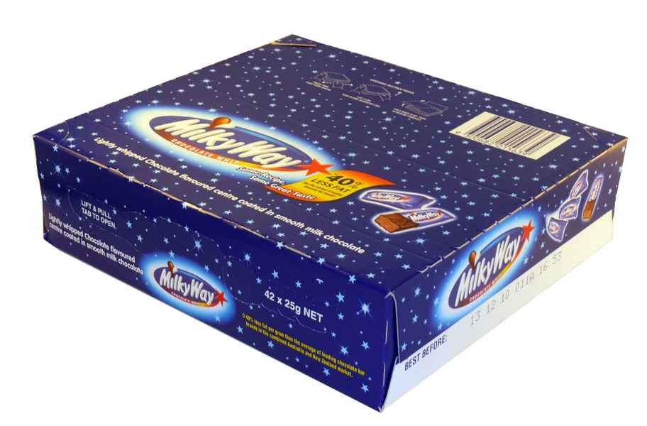 Milky Way Bar, by Mars,  and more Confectionery at The Professors Online Lolly Shop. (Image Number :2074)