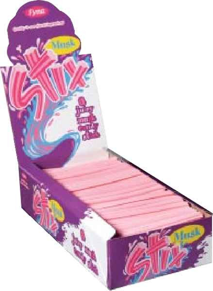 Musk Stix, by Fyna Foods,  and more Confectionery at The Professors Online Lolly Shop. (Image Number :2081)