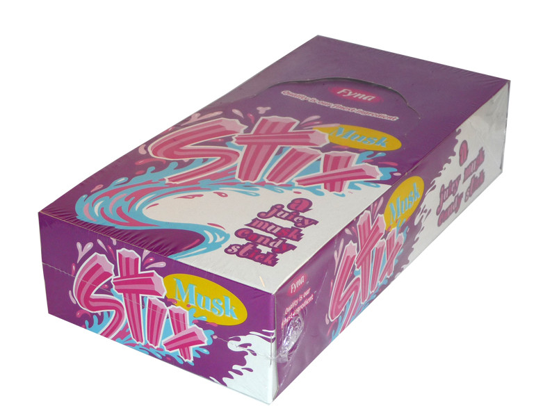 Musk Stix, by Fyna Foods,  and more Confectionery at The Professors Online Lolly Shop. (Image Number :2257)