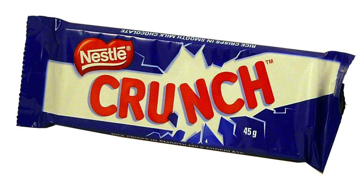 Nestle Crunch, by Nestle,  and more Confectionery at The Professors Online Lolly Shop. (Image Number :2084)
