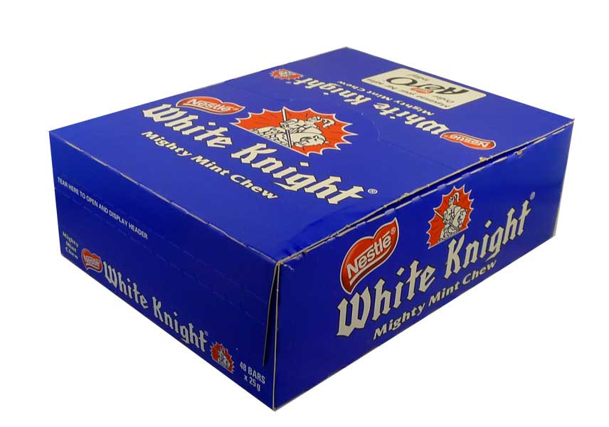 Nestle White Knights, by Nestle,  and more Confectionery at The Professors Online Lolly Shop. (Image Number :2329)