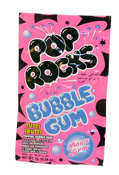 Pop Rocks - Tutti-Fruit Bubble Gum, by Pop Rocks and Zeta Espacial,  and more Confectionery at The Professors Online Lolly Shop. (Image Number :2262)
