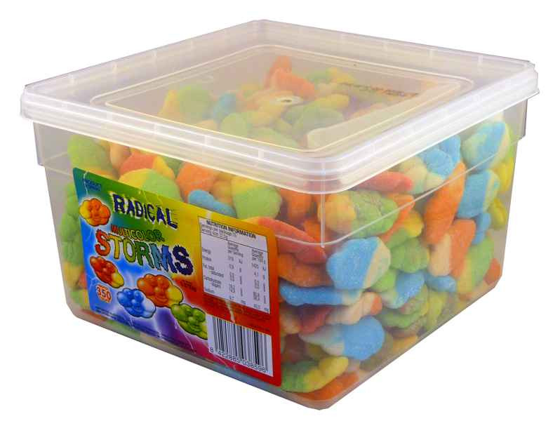 Radical Storms - Multi-Colour, by AIT Confectionery,  and more Confectionery at The Professors Online Lolly Shop. (Image Number :2109)