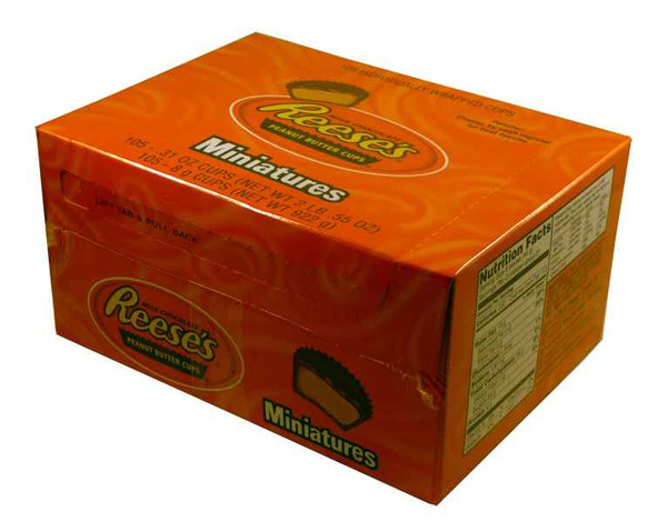 Reeses Peanut Butter Cups Miniatures, by Reeses,  and more Confectionery at The Professors Online Lolly Shop. (Image Number :2113)