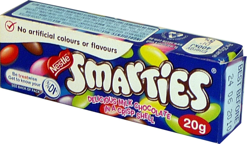 Smarties, by Nestle,  and more Confectionery at The Professors Online Lolly Shop. (Image Number :3166)
