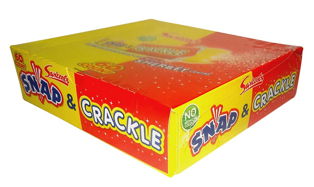 Swizzels Snap and Crackle, by Swizzles Matlow,  and more Confectionery at The Professors Online Lolly Shop. (Image Number :9776)
