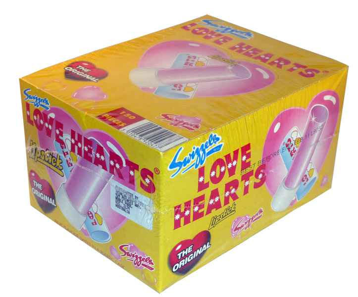 Swizzels Love Heart Lipstick, by Swizzles Matlow,  and more Confectionery at The Professors Online Lolly Shop. (Image Number :2147)
