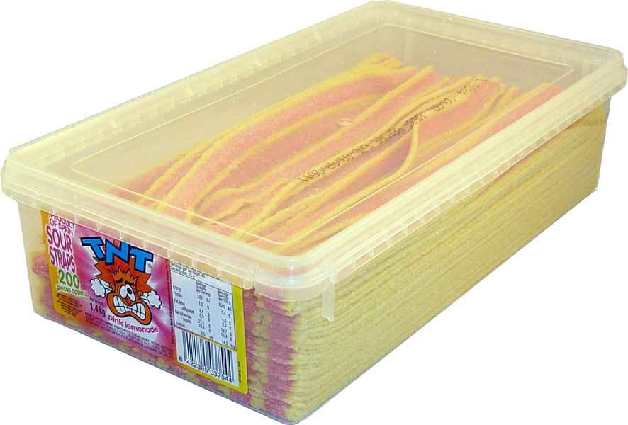 TNT Sour Straps Pink Lemonaid, by TNT,  and more Confectionery at The Professors Online Lolly Shop. (Image Number :2156)