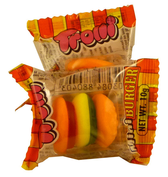 Trolli Mini Burgers, by Trolli,  and more Confectionery at The Professors Online Lolly Shop. (Image Number :2308)