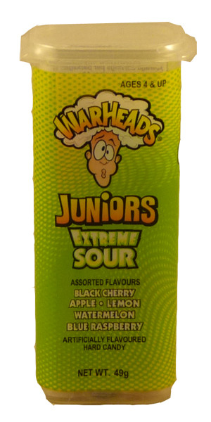 Warheads Extreme Sour Juniors, by Warheads,  and more Confectionery at The Professors Online Lolly Shop. (Image Number :2326)