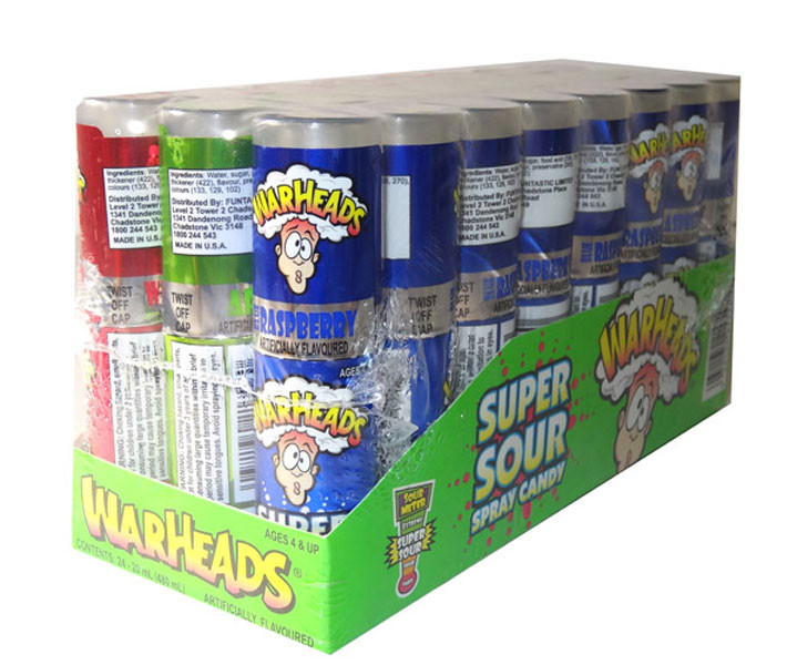 Warheads Super Sour Spray, by Warheads,  and more Confectionery at The Professors Online Lolly Shop. (Image Number :5538)