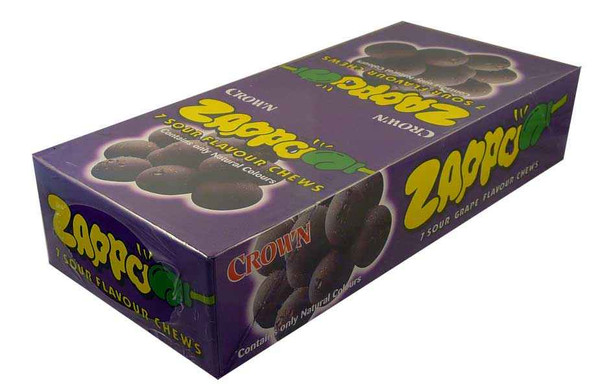 Zappo - Grape Chews, by Crown Confectionery,  and more Confectionery at The Professors Online Lolly Shop. (Image Number :2211)