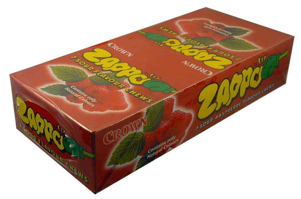 Zappo - Raspberry Chews, by Crown Confectionery,  and more Confectionery at The Professors Online Lolly Shop. (Image Number :2212)