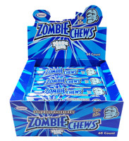 Zombie Chews - Sour Blue Raspberry, by Sweetmans,  and more Confectionery at The Professors Online Lolly Shop. (Image Number :8330)