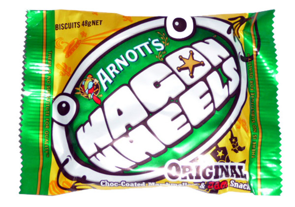 Arnotts Wagon Wheels, by Arnotts,  and more Confectionery at The Professors Online Lolly Shop. (Image Number :2483)