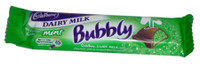 Cadbury Dairy Milk Mint Bubbly, by Cadbury,  and more Confectionery at The Professors Online Lolly Shop. (Image Number :2495)
