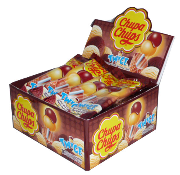 Chupa Chups Twice - Choco and Vanilla, by Chupa Chups,  and more Confectionery at The Professors Online Lolly Shop. (Image Number :2505)