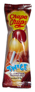 Chupa Chups Twice - Choco and Vanilla, by Chupa Chups,  and more Confectionery at The Professors Online Lolly Shop. (Image Number :2506)