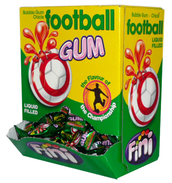 Fini Football Gum, by Fini,  and more Confectionery at The Professors Online Lolly Shop. (Image Number :2517)