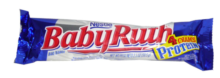 Nestle Baby Ruth Bars, by Nestle,  and more Confectionery at The Professors Online Lolly Shop. (Image Number :2543)