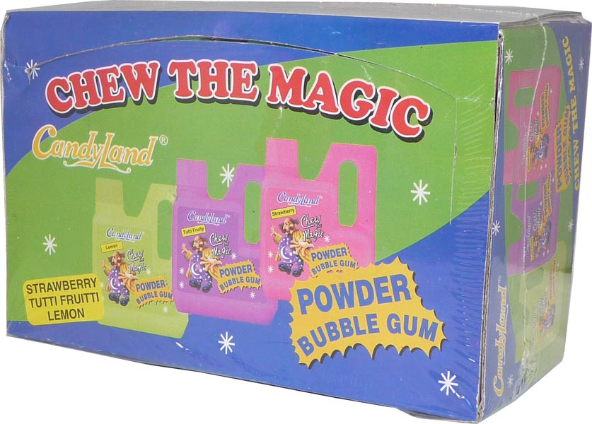 Candyland Powder Bubble Gum, by Candy Brokers,  and more Confectionery at The Professors Online Lolly Shop. (Image Number :2606)
