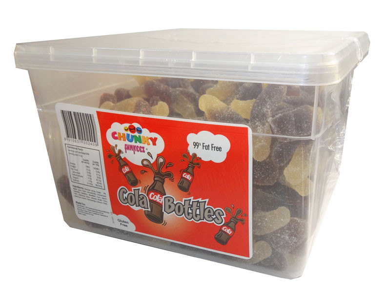 Chunky Funkeez Cola Bottles, by Candy Brokers,  and more Confectionery at The Professors Online Lolly Shop. (Image Number :6676)