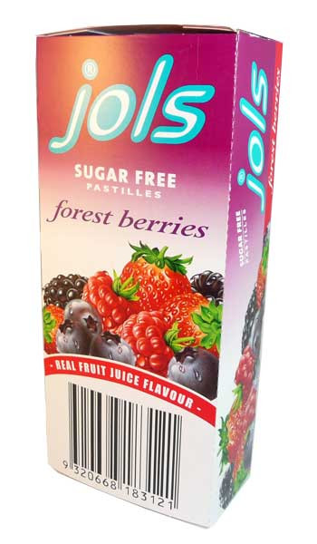 Jols Sugar Free Pastilles - Forest Berries, by Jols,  and more Confectionery at The Professors Online Lolly Shop. (Image Number :2679)