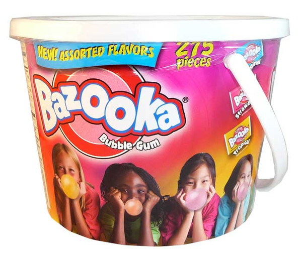 Bazooka Bubble Gum - Assorted Flavours, by Other,  and more Confectionery at The Professors Online Lolly Shop. (Image Number :2587)