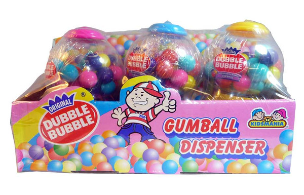 Dubble Bubble Gumball Dispenser, by Dubble Bubble/Tootsie Roll Industries,  and more Confectionery at The Professors Online Lolly Shop. (Image Number :2710)
