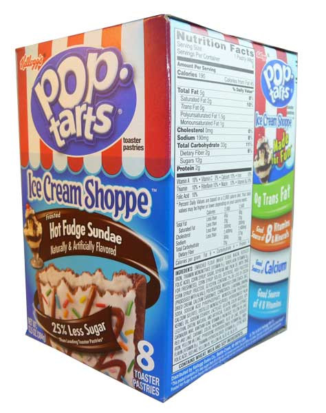 Kelloggs Pop Tarts - Frosted Hot Fudge Sundae, by Kelloggs Pop Tarts,  and more Snack Foods at The Professors Online Lolly Shop. (Image Number :2722)