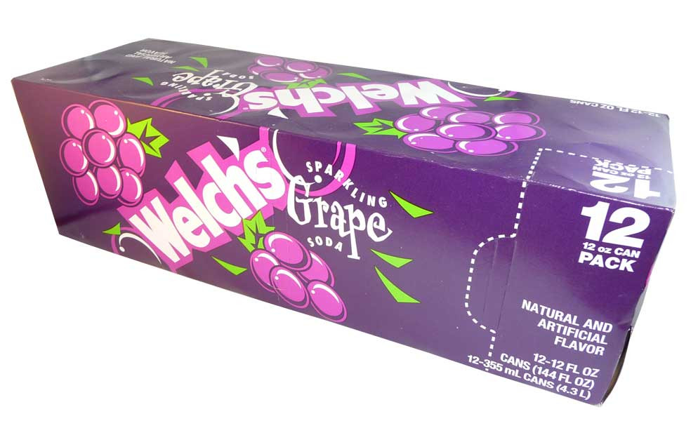 Welch s Sparkling Grape Soda, by Welch Foods,  and more Beverages at The Professors Online Lolly Shop. (Image Number :2739)