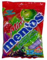 Mini Mentos 15 Roll Fruit Mix Bag, by Perfetti Van Melle,  and more Confectionery at The Professors Online Lolly Shop. (Image Number :2706)
